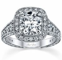 Diamond Halo Engagement Ring 1.25cttw