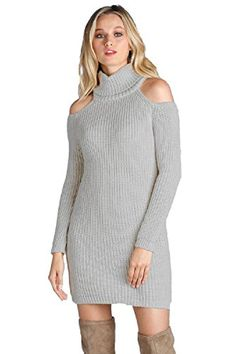 ELAN Women's Cold Shoulder Turtle Neck Sweater Dress. Look fashionable and modern this fall with sweater women dresses. These cute sweater dresses women are fun and trendy. Spice up your wardrobe with cold shoulder dresses women or cozy up with and oversized sweater dresses women. Here you will find a variety of sweater dresses fall such as sweatshirt hoodie dress, turtle neck sweater dress, long sweater dress women and many more beautiful styles.