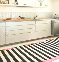 Black And White Striped Runner Rug Roselawnlutheran