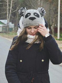 "Шапочка ""Панда"" https://www.livemaster.ru/item/20977339-aksessuary-shapochka-mishka-panda"