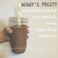 """Life After I """"Dew""""- Wendy's Frosty Shakeology 310 Shake Recipes, Arbonne Shake Recipes, Herbalife Recipes, Protein Shake Recipes, Best Shakeology Recipes, Smoothie Recipes, Protein Smoothies, Fruit Smoothies, Strawberry Shakeology Recipes"""