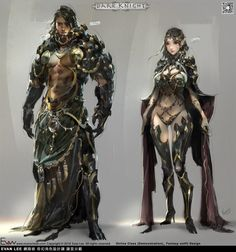Kai Fine Art is an art website, shows painting and illustration works all over the world. Fantasy Character Design, Character Design Inspiration, Character Concept, Character Art, Armor Concept, Concept Art, Cthulhu, Fantasy Armor, Fantasy Men