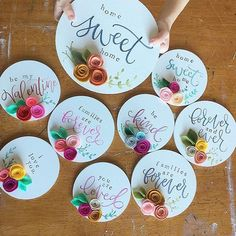 make a wood sign, use the silhouette and paint to make name and make felt flowers. Felt Diy, Handmade Felt, Handmade Flowers, Felt Crafts, Wood Crafts, Paper Crafts, Felt Flowers, Fabric Flowers, Paper Flowers