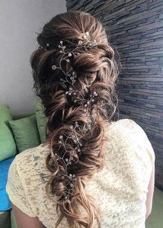 Wedding Hairstyle Inspiration - tabitth - Wedding World Natural Wedding Hairstyles, Loose Hairstyles, Bride Hairstyles, Bridal Braids, Bridal Hair, Hair Flow, Hair Extensions Best, Wedding Hair Inspiration, Sleek Ponytail
