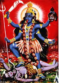 One of the many different Hindu gods kali