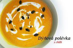 Dýňová polévka s chilli, čili podzimní zahřátí
