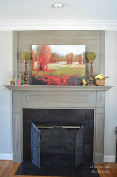A very handsome fireplace.