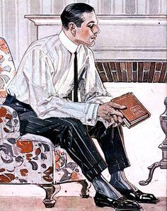 Cluett ad, JC Leyendecker, 1911.