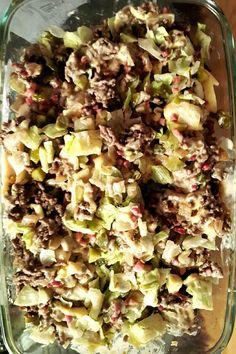 Viele kennen Ihn, viele lieben Ihn! Den Big Mac Salat. Da ich immer wieder auf der Suche und am Rezepte verändern bin um diese für meine hCG Konforme Ernährung kochen zu können darf auch dieser leckere Salat aus normalerweise Bacon,Salat,Zwiebeln,Hackfleisch, Salatsauce,Käse auf hcg-rezepte.com nicht fehlen.Meine angepasste Variante für die hCG ...