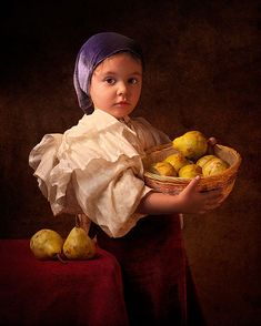 Father photographs his 5-year old daughter in the clothing and settings of Renaissance Dutch, Flemish, and Italian masters - Album on Imgur