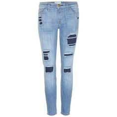 Pre-owned Current/elliott Skinny Jeans ($118) ❤ liked on Polyvore