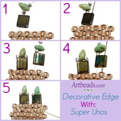 Creating a decorative edge with Tila beads and SuperUnos!