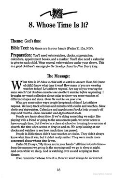 5 Minute Childrens Sermons