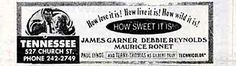 """Tennessee Theatre Ad - """"How Sweet It Is"""" with James Garner"""