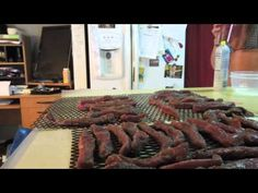 A quick video on how to make jerky the right way. This is a Fool-Proof way to jerk any kind of meat. Don't use liquid smoke. Just cut meat with the grain int. Jerky Recipes, Smoker Recipes, Venison Jerky, Wood Smokers, Making Jerky, Deer Meat, Smoke Grill, Beef Dishes, Outdoor Cooking