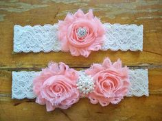 Peach Garter by BloomsandBlessings