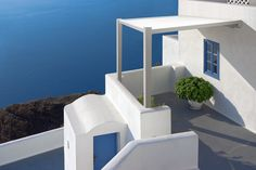 Picture of Oia village in Santorini island in Greece View of the sea and the village stock photo, images and stock photography.