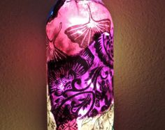 Custom Wine Bottle Lamp Unique Wine Bottle by ArtisticWineBottles