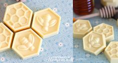 DIY Milk & Honey Soap - Happiness is Homemade Diy Christmas Gifts For Friends, Diy Mothers Day Gifts, Homemade Christmas, Soap Making Recipes, Homemade Soap Recipes, Homemade Products, Happiness Is Homemade, Melt And Pour, Glycerin Soap Base