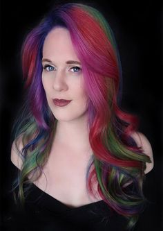 Stunning Rainbow Bright Hair Color Ideas 2019 - All About Hairstyles Unique Hairstyles, Messy Hairstyles, Bright Hair Colors, Colourful Hair, Latest Hair Color, Hair Color Highlights, Hair Trends, Hair Beauty, Rainbow