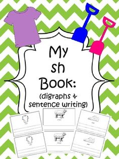 Integrating writing into every standard gives students writing practice which leads to success. This 9 page book is designed so that you can copy the book, cut it in half, staple, and then it is ready for use. Each page has a picture of an item that begins with the sh digraph.- Kindergarten - First Grade - Second Grade - Homeschool - Sherry Clements - $