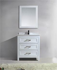 Toscana 30 Inch White Quartz Vanity