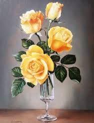 Resultado de imagen para art flower oil painting pink rose