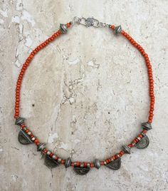 Such rich history in one piece! African White Heart Trade Beads, Old Ethiopian Telsum Amulets, Berber Tribal Silver and Bali Silver. Handmade in WA. Ships Free.