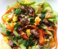 Lamb & Mango Salad | Lemon-Tahini Dressing by @grazedandenthused grazedandenthused.com #paleo