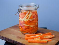 Snabbpicklade morötter med ingefära