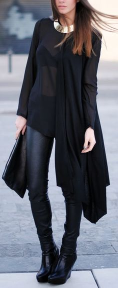 Chic all black.