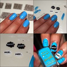 The Fault In Our Stars nail tutorial
