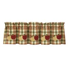 """Country Apple Window Valance By Park Designs by Park Designs. Save 6 Off!. $25.37. 60"""" wide x 14"""" long. 60"""" x 14"""" Apple Lined Kitchen Curtains by Park Designs"""