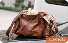 Korean Style Brown Side Pockets Sling Bag Handbag (BN0024); Limited Stock Offer! | Singapore Group Buying - NiceDeal.SG nice way to save - G...