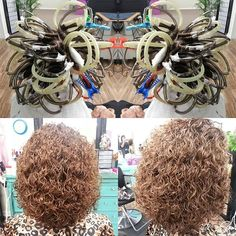 perfect spiral perm showing the wrap Short Permed Hair, Permed Hairstyles, Modern Hairstyles, Perm On Medium Hair, Perm Hair, Hair Perms, Hair Up Styles, Medium Hair Styles, Different Types Of Curls