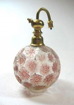 ♔ Fleurs perfume-atomizer  ~ by René Lalique France ~ 1925
