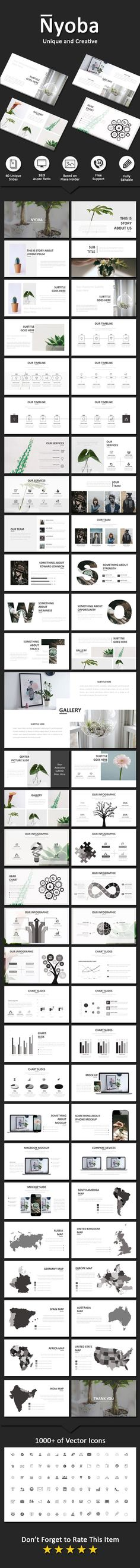 Nyoba Creative Powerpoint - Business #PowerPoint Templates Download here: https://graphicriver.net/item/nyoba-creative-powerpoint/19739800?ref=alena994
