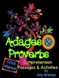 Adages & Proverbs Comprehension & Language Development (L.4.5.B & L.5.5.B)