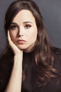Ellen Page, female beauty, hand, sadnes, beautiful, gorgeous, pretty, lovely face, intense eyes, powerful, portrait, photo