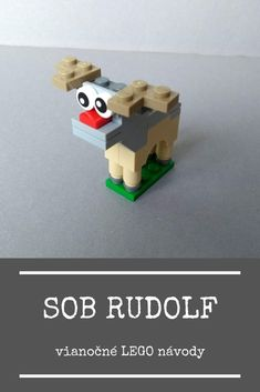 Návod na postavenie LEGO soba. Lego, Jingle Bells, Reindeer, Make It Yourself, Creative, Legos, Reindeer Ornaments, Deer