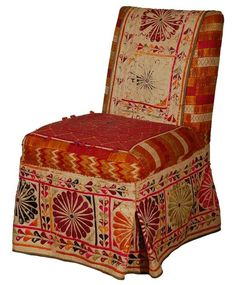 Vintage Indian fabricupholstery