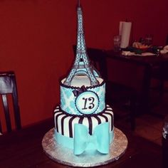 - Eiffel Tower Cake for my daughters 13th B-Day. Thanks to all of the CC members for the wonderful tutorials. I couldn't have done it with out you all.