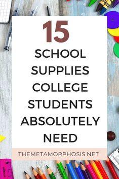 15 Material escolar para a universidade que non pode esquecer - Zurück Zur Schule College Freshman Tips, College List, College Majors, Scholarships For College, Education College, College Students, College Football, College Supply List, College Schedule