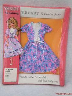 VINTAGE PALITOY TRESSY DOLL ROMANY LASS OUTFIT MIB #2 -EMPIRE MADE FREE UK P & P