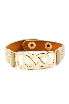 Triple Infinity Bracelet in Soft Ivory