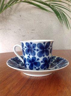 Rorstrand Sweden Mon Amie tea cup designed by Marianne Westman Cup And Saucer Set, Vintage China, One Design, Blue Flowers, Sweden, Sydney, Tea Cups, Porcelain, Mugs