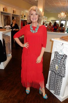 """Fifty, not Frumpy, """"My dress which is actually a skirt and top is from My Fair Lady in Tarzana, California.  Women stopped me on the sidewalk today to ask me where I got it."""""""