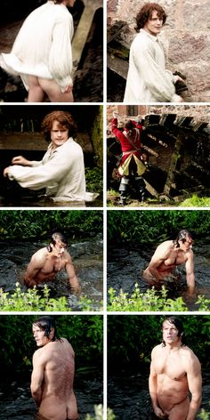 [GIFSET] Jamie at the mill in 1x12 Lallybroch - this is already iconic!! :)