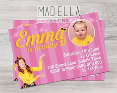 Emma Wiggle Invitation, Emma, The Wiggles, The Wiggles Invite, Emma Wiggle 4th Birthday Cakes, 3rd Birthday Parties, 2nd Birthday, Birthday Ideas, Wiggles Birthday, Wiggles Party, Wiggles Cake, The Wiggles, Emma Wiggle