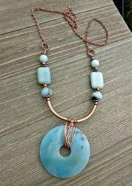 Resultado de imagen para copper and blue jewelry